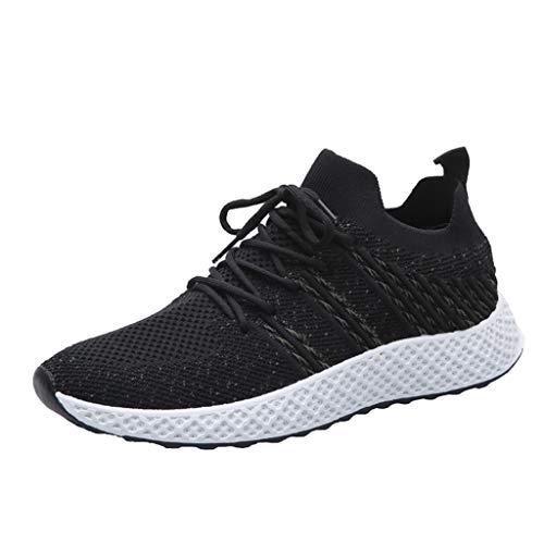 Neue Laufschuhe Atmungsaktive Mesh Outdoor Sneakers Schuhe Verschleißfeste Wild Travel Schuhe Sneaker (Schwarz, 40 EU) ()