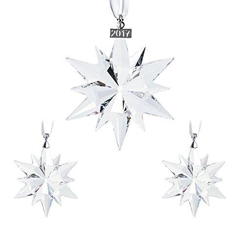 Swarovski Weihnachtsset Figur, Kristall, Transparent, 13 x 11 x 11 cm, 3-Einheiten