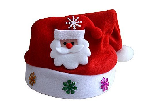Hevaka Applique Christmas Santa Claus Kinder cartoon Hut (Santa Hüte Für Kinder)