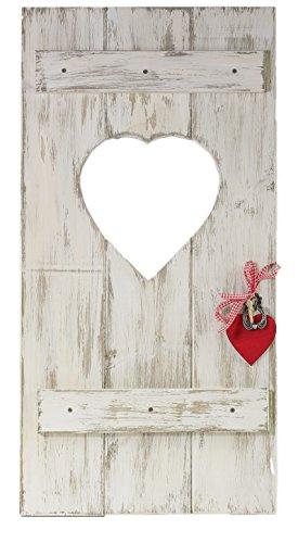 Fensterladen Herz Holz Dekoration Hochzeitsgeschenk Geldgeschenk Geschenkidee Shabby Stil Landhausstil weiß von feiner-Tropfen