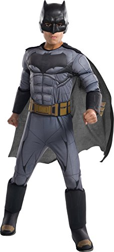 DC - Justice League Movie Kinder-Kostüm Batman Premium, m (Rubies Spain 640170-m)
