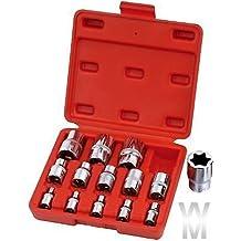 Herramientas de garaje Wondermantools® hembra Torx, punta estrella de clavija, juego de 1/4, 3/8, 1/2Drive E4-E24