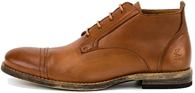 Calzado De Hombre, Piel, High-Top, Retro, Encaje, Transpirable, Casual -