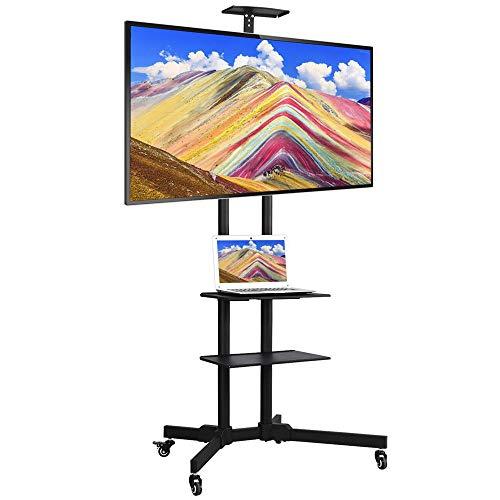 Yaheetech mobil TV Wagen Trolley TV Standfuß Stand für Fernseher höhenverstellbar Halterung für LCD LED 32-65 Zoll