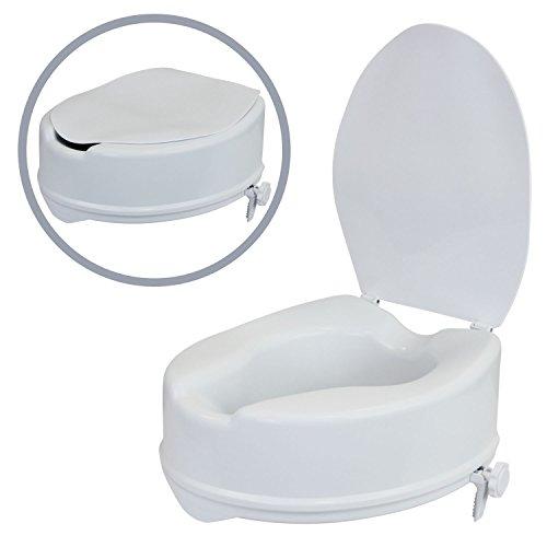 1PLUS Health Toilettensitzerhöhung 15 cm Toilettenaufsatz mit Deckel