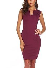 98c33081728d Damen Kleider Frauen Dress Retro Minikleid Bodycon Etuikleid Knielänge  Formelle Büro Kleid 1 2 Hülse