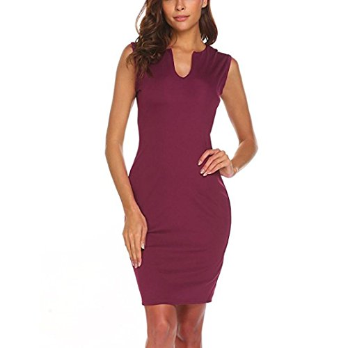 Damen Kleider Frauen Dress Retro Minikleid Bodycon Etuikleid Knielänge Formelle Büro Kleid 1/2...