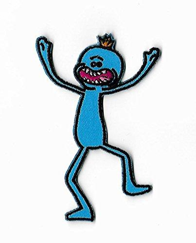 Rick & Morty Patch Herr meeseeks bestickt Eisen/Nähen auf Badge DIY Aufnäher Souvenir (Meeseeks Kostüm)