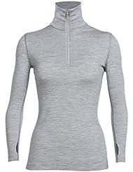 Icebreaker Damen Tech Top Long Sleeve Half Zip Shirt