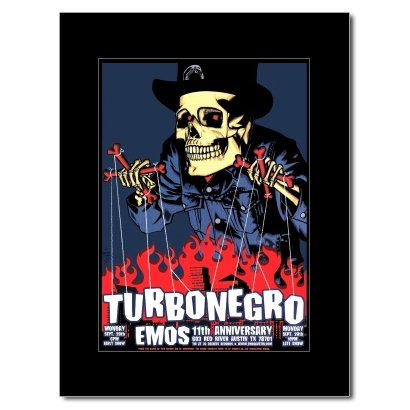 TURBONEGRO - Emo's Austin Texas 2003 Matted Mini Poster - 23.5x17cm -
