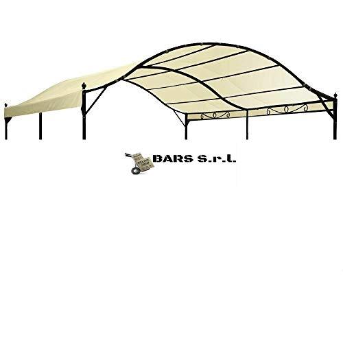 Bars EASYSHOP Telo 3X4 180GR per Gazebo Tunnel 3x4 mt per Esterno terrazzo Ecrù