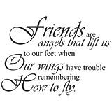 Arte de la pared calcomanía de vinilo de amigos son ángeles amigos amistad