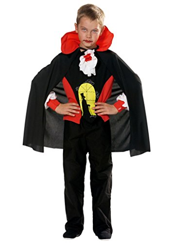 Hilmar Krautwurst - Disfraz de Drácula para niño, talla 7 años (G723-001)