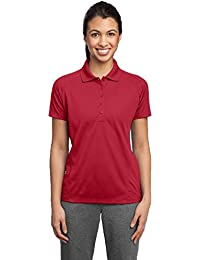 Sport-Tek® Ladies Dri-Mesh® Pro Polo. L474 Engine Red XS
