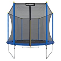 ultrasport garden trampoline uni-jump, kids trampoline, trampoline complete set including jumping sheet, safety net, padded net posts and edge cover