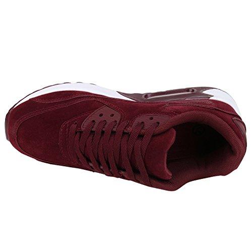 Japado Gaudy Donna Uomo Scarpe Sportive Unisex Accattivanti Sneakers Al Neon Accattivanti Look Da Giorno Look Gradevole Indossando Comfort Gr. 36-45 Rosso Scuro Rosso