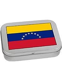 4cc28e8ede Azeeda 110mm x 80mm  Bandera de Venezuela  Caja de Almacenamiento   Lata de  Metal