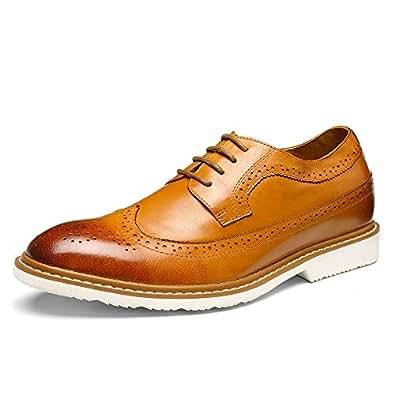 56b83779ce14 CHAMARIPA Chaussure Rehaussante de Stylée Marron a Talonnette ...