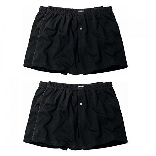 4 er Pack Ceceba Jersey Boxershorts Pant Unterhosen Herren schwarz Größen XL - 8XL, Grösse:6XL - 14 - 64;Farbe:schwarz