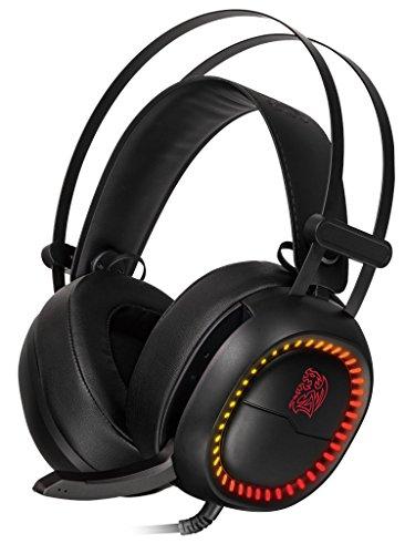 TTeSPORTS Shock Pro RGB Cuffie da Gaming per PC, Luci LED e Microfono Integrato