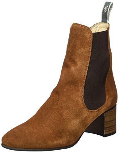 Marc O'Polo Mid Heel Chelsea 70714185101303, Bottes Souples Femme Marron (Cognac)