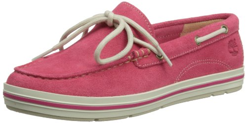 Timberland, EK Casco Bay Boat Shoe, Scarpe da barca, Donna rosa (Hot Pink)