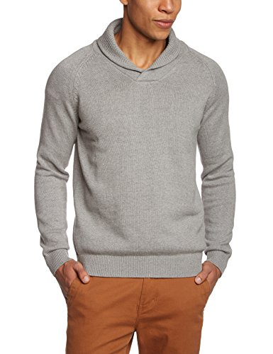 SELECTED HOMME - Maglione collo tondo, Uomo, Grigio (Grau (Light Grey Melange Light Grey Melange)), S