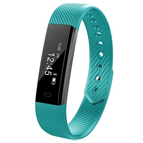 YMCHE Heart Rate Activity Tracker monitor con calorie bruciate braccialetto intelligente Bluetooth, green, 6 * 4 * 2cm