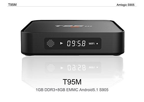 VUUV T95M Android 5.1 UHD 4K Smart TV Box (LATEST 2017 MODEL 4K VERSION) , Media Player, Mini PC, IPTV , Quad Core, 1GB RAM, 8GB ROM, 1080p Full HD, 2 USB Ports ** FREE GIFT **  available at amazon for Rs.3675