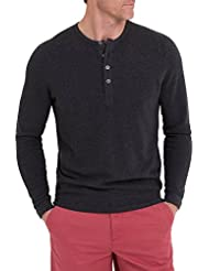 Wool Overs T-shirt homme à manches longues et col tunisien