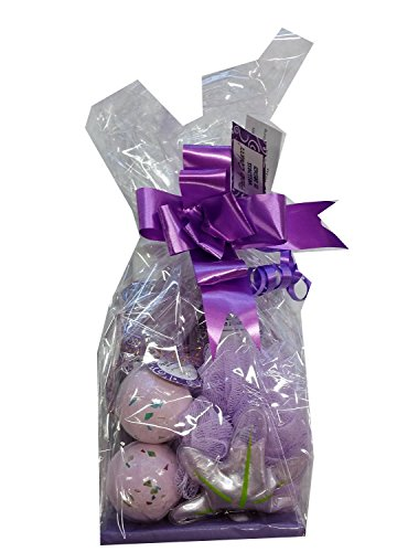 Preisvergleich Produktbild Paolo Colucci Wellness Set Badesalz Gel Creme Sprudelbad Schwamm Geschenk Geschenkartikel (Lila Lavendel)