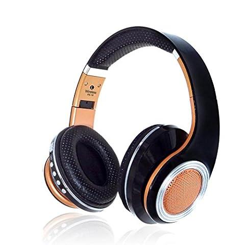 Bluetooth Over Ear Casque avec micro stéréo, c'est Blutooth 4.2Écouteurs casque sans fil pour iPhone, iPod, iPad, PC