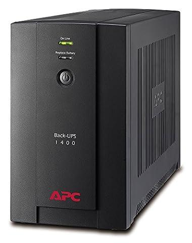 APC Back-UPS BX - Uninterruptible Power Supply 1400VA, - BX1400UI - AVR, 6 Outlets IEC-C13, USB, Shutdown Software