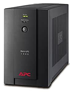 APC Back-UPS BX 1400 - Onduleur 1400VA, BX1400U-FR - AVR - 4 Prises FR, USB, Logiciel d'arrêt