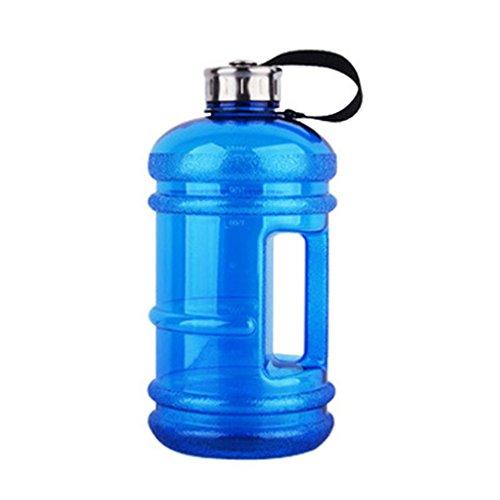Askdasu bottiglia di plastica sport palestra manubri grande capacità tazza portatile secchio Cup Dark Blue