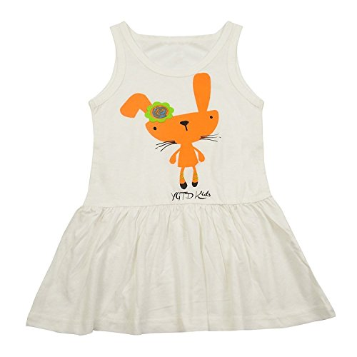 ragazze Guancheng gilet animale pannello esterno del modello per bambini Abbigliamento per bambini Sundress Size 4-12 (03130 Bianco)