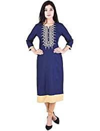The Style Story Women's Rayon Embroidered Kurti