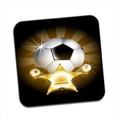 Golden Star con calcio luccicante singolo sottobicchiere