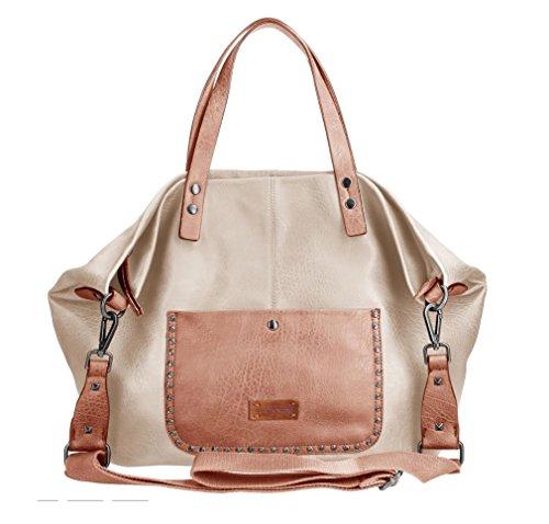 Emily&Noah Cityshopper Elea Shopper Handtasche Tasche Damen Umhängetasche Taupe