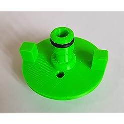 Bocchettone di carico con connettore per tubo, per serbatoio dell'acqua di camper e roulotte, Compatibile con Fiamma: Adattatore verde