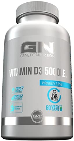 GN Laboratories Vitamin D3 5000IE Essentielle Vitamine Für Immunsystem Muskeln Knochen Supplement 60x Vegan