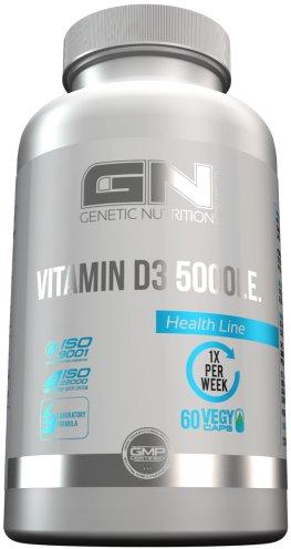 GN Laboratories Vitamin D3 5000IE Essentielle Vitamine Für Immunsystem Muskeln Knochen Supplement 60x Vegan CAPS