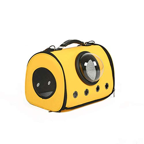 George FF Bolso de hombro portátil de la cápsula del espacio de excursión Bolso de perro de la jaula del gato (color : Yellow shoulder bag)