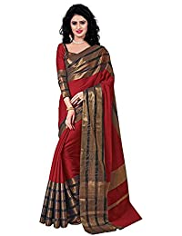 Raa Retail Women's Cotton Silk Saree With Blouse Piece (Sc_Surbi_Red_Red)