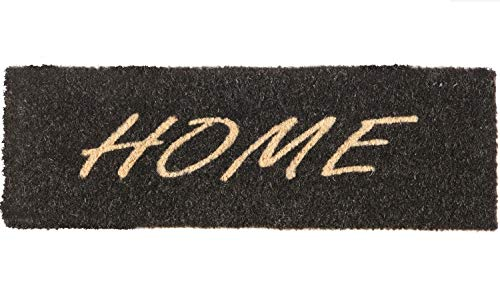 Kokos Fußmatte | Kokosmatte | Coco Fußmatte | Fussmatte | Antirutschmatte | Schmutzfangmatte | Fußmatten Kokosfasern | Rutschfest | Größe 26x75cm | Home Gold oder Silber (Home Schwarz)