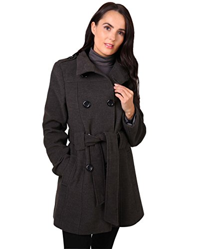 Damen Trench Coat Uni