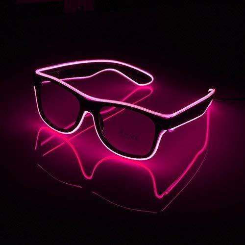Uteruik LED-Brille EL Draht Fashion Neon Kaltlicht Brille für Tanzen Party Geburtstag Bar Meeting Glow Rave Kostüm Atmosphäre DJ Helle Requisiten Dekorative Beleuchtung 1 Stück