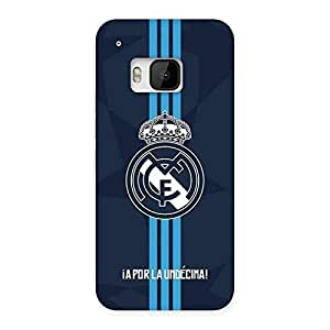 Neo World Blue Stripes Crown Back Case Cover for HTC One M9