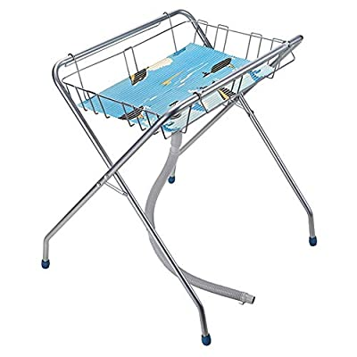 Foldable Baby Changing Table and Bath with Drain Pipe| Baby Storage with Non-Slip Mat | Tub Unit,Release The Mother's Waist