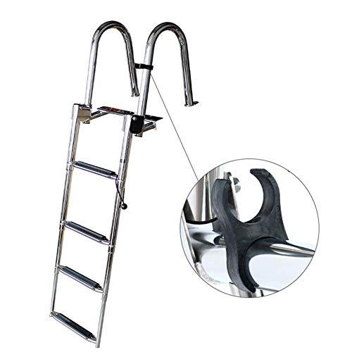 4PASOS Pontón/Barco/puerto de yates/piscina trasera telescópica Entrada/Escalera, resistente del acero...